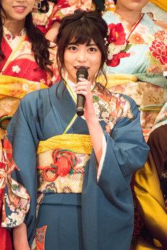 1月11日に東京・神田明神にて行われた成人式での前田亜美。