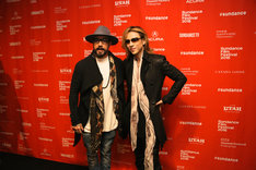 Backstreet BoysのA.J.マクリーンとYOSHIKI。(写真提供:ジャパンミュージックエージェンシー)