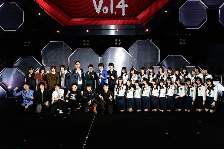 「LIVE EXPO TOKYO 2016 ALL LIVE NIPPON Vol.4」出演者の集合写真。(写真提供:ニッポン放送)
