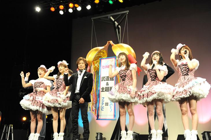 ドラマ「武道館」の舞台挨拶の様子。