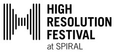 「HIGH RESOLUTION FESTIVAL at SPIRAL」ロゴ