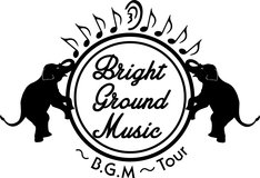 モノブライトのツアー「Bright Ground Music ~B.G.M~ Tour」ロゴ。