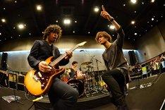左から柿沼広也(G, Vo)、金井政人(Vo, G)。(Photo by AZUSA TAKADA)