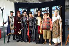 舞台「GOKU」出演者たち。