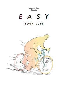 「シャムキャッツ presents『EASY TOUR』」キービジュアル