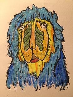 たむらぱんが描いた「猿」。