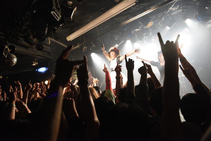 BAND-MAIDのライブの様子。