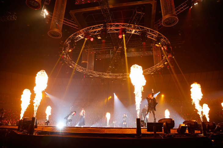「JAM Project 15th Anniversary Premium LIVE THE STRONGER'S PARTY」のワンシーン。(写真提供:ランティス)