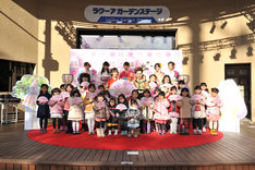 「『プリパラ み~んなのあこがれ♪レッツゴー☆プリパリ』映画公開記念☆ぴなまつりイベント」の様子。(写真提供:avex pictures)