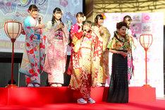 「『プリパラ み~んなのあこがれ♪レッツゴー☆プリパリ』映画公開記念☆ぴなまつりイベント」の様子。