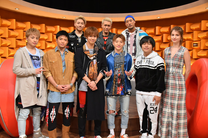 左よりGENERATIONS from EXILE TRIBE、バカリズム、マギー。 (c)日本テレビ
