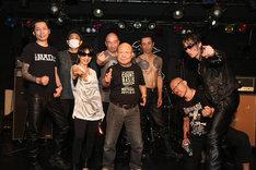 TRANSPARENTZ、坂田明、ギターウルフ。(撮影:月夜野ヒズミ)