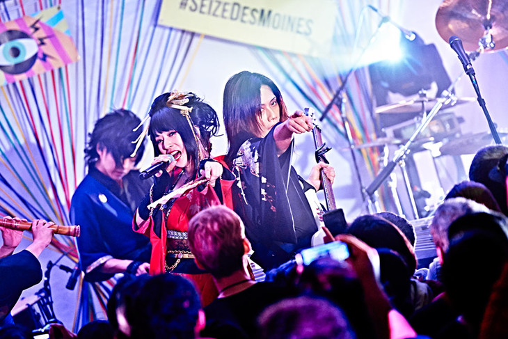 「SXSW Showcase by Live Nation」での和楽器バンド。(Photo by:KEIKO TANABE / TAMARUYA)