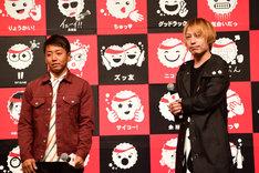左からPES(RIP SLYME)、中田ヤスタカ(CAPSULE)。