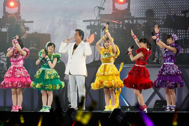 加山雄三と、ももいろクローバーZ。(Photo by HAJIME KAMIIISAKA+Z)