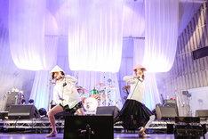 """せんせい(Vo, Key)と佐藤全部(B)からなる""""ペガサスファンタジー""""。(Photo by Taku Fujii)"""