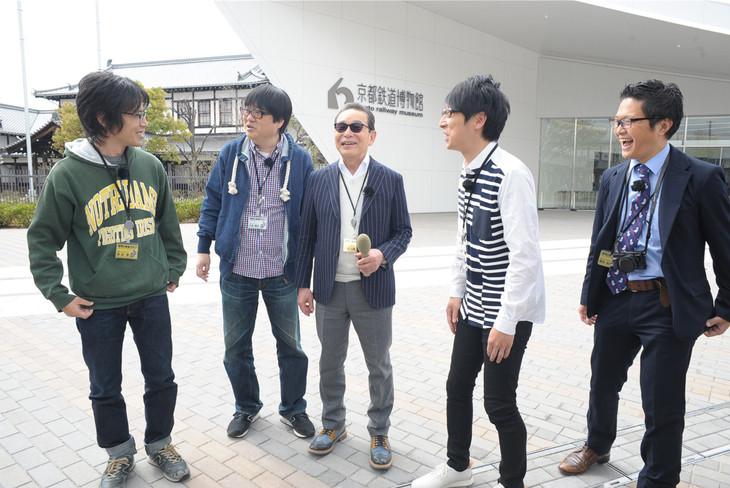 「タモリ倶楽部」で展開される「タモリ電車クラブ」のワンシーン。(c)テレビ朝日