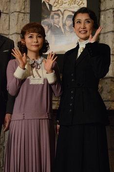 中川翔子と一路真輝。