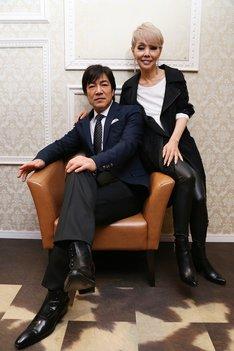 野口五郎と研ナオコ。