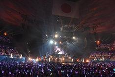 「アンジュルム コンサートツアー 2016春『九位一体』~田村芽実卒業スペシャル~」の様子。