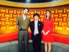 左から平井堅、バカリズム、マギー。 (c)日本テレビ