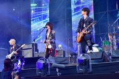 "「BUMP OF CHICKEN STADIUM TOUR 2016 ""BFLY""NISSAN STADIUM 2016/7/16,17」日産スタジアム公演の様子。(撮影:古渓一道)"