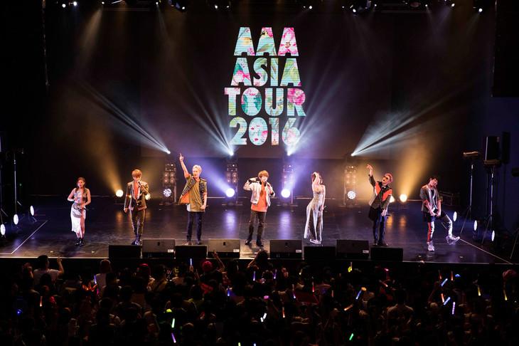 8月13、14日に台湾 台北・ATT SHOW BOXにて2度目のアジアツアーをスタートさせたAAA。(写真提供:エイベックス・ライヴ・クリエイティヴ)