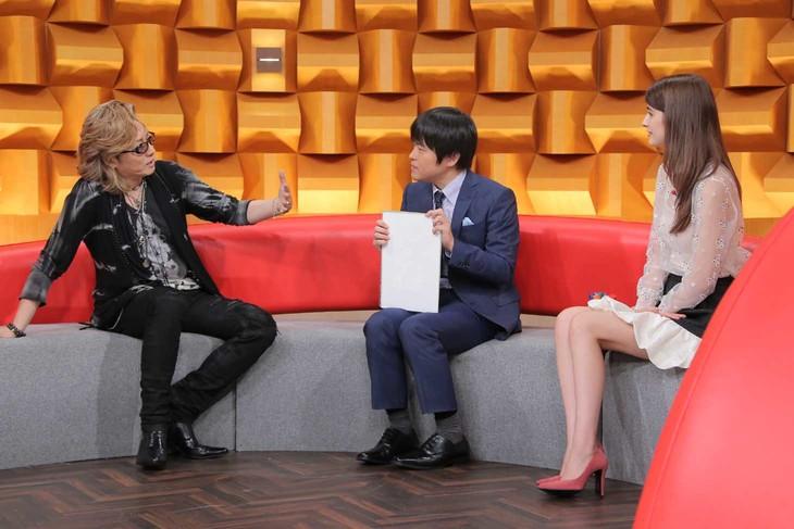 左から石井竜也、バカリズム、マギー。(c)日本テレビ