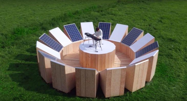 「FITでんきプラン(再生可能エネルギー)」プロモーション動画のワンシーン。