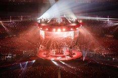 「BABYMETAL WORLD TOUR 2016 LEGEND -METAL RESISTANCE- RED NIGHT」の様子。(Photo by Taku Fujii)