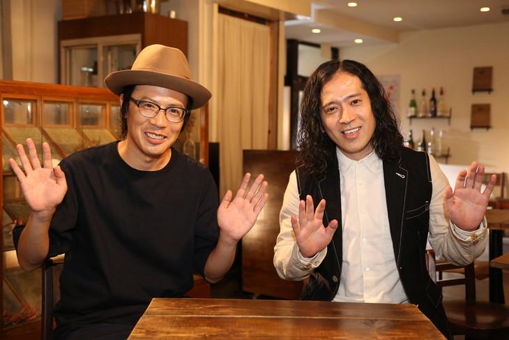 岸田繁(くるり)と又吉直樹(ピース)。(写真提供:NHK)