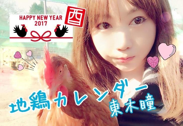 東木瞳「地鶏カレンダー」表紙
