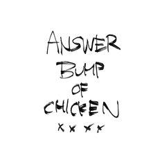 BUMP OF CHICKEN「アンサー」ジャケット