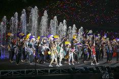 ももいろクローバーZ「桃神祭 2016 ~鬼ヶ島~」の様子。(Photo by HAJIME KAMIIISAKA+Z)