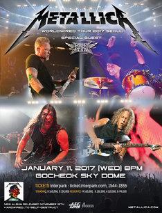 Metallica「WorldWired Tour 2017」韓国・Gocheok Sky Dome公演ポスター