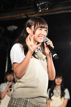 薮下柊。写真は8月5日に東京・タワーレコード渋谷店B1F CUTUP STUDIOで行われたシングル「僕はいない」の発売記念イベントの様子。
