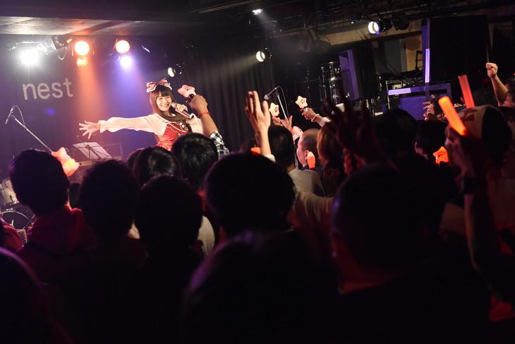 上坂すみれによるライブの様子。