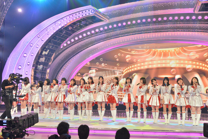 AKB48のリハーサルの様子。