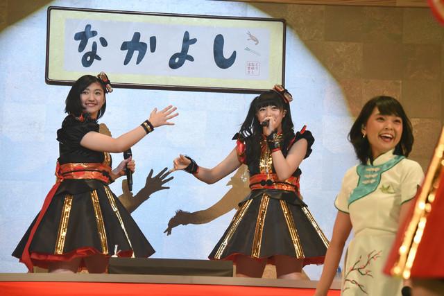 左から小林歌穂、中山莉子、Kaede。