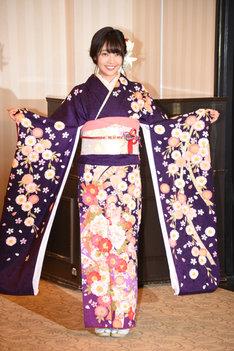 今年1月に東京・神田明神で行われたAKB48グループの成人式に出席した二村春香。