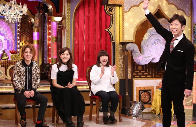 左から渚(尼神インター)、川口春奈、関取花、後藤輝基(フットボールアワー)。 (c)日本テレビ