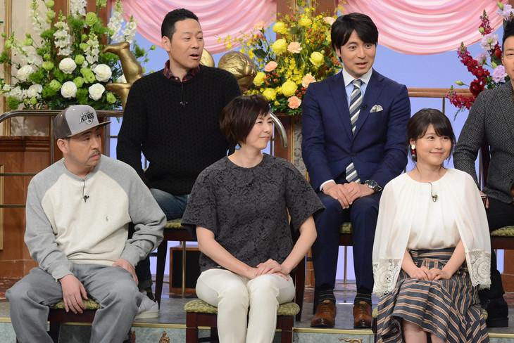 上段左から東野幸治、桝太一アナウンサー。下段左からKダブシャイン、陣内貴美子、有村架純。 (c)日本テレビ