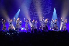 さくら学院「The Road to Graduation 2016 ~放課後アンソロジー レッツ スタンディング~」TSUTAYA O-EAST公演の様子。