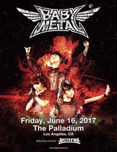 「BABYMETAL US TOUR 2017 SPECIAL HEADLINE SHOW IN LA」ビジュアル