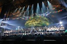横1列に並んだ欅坂46&けやき坂46。(提供:SONY MUSIC RECORDS)