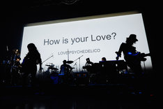 LOVE PSYCHEDELICO「How is your Love?」の様子。