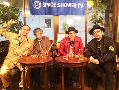「ドラマー対談」に出演する中村達也、佐藤シンイチロウ、クハラカズユキ(The Birthday)、池畑潤二。