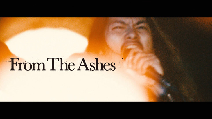 HER NAME IN BLOOD「From The Ashes」ミュージックビデオのワンシーン。