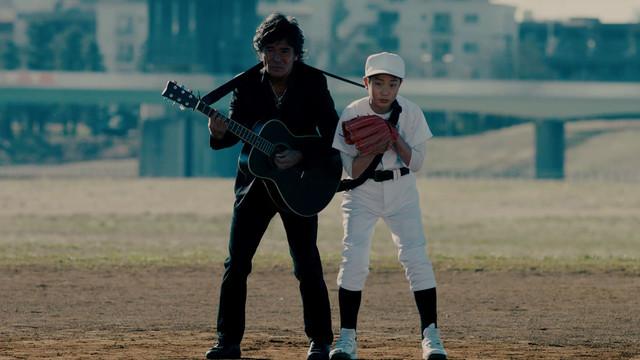 松崎しげると野球少年。