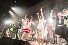 大森靖子とゆるめるモ!(Photo by Masayo)